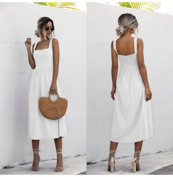 Robe Simple Blanche 2 | Soirée Blanche