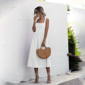 Robe Simple Blanche 10 | Soirée Blanche