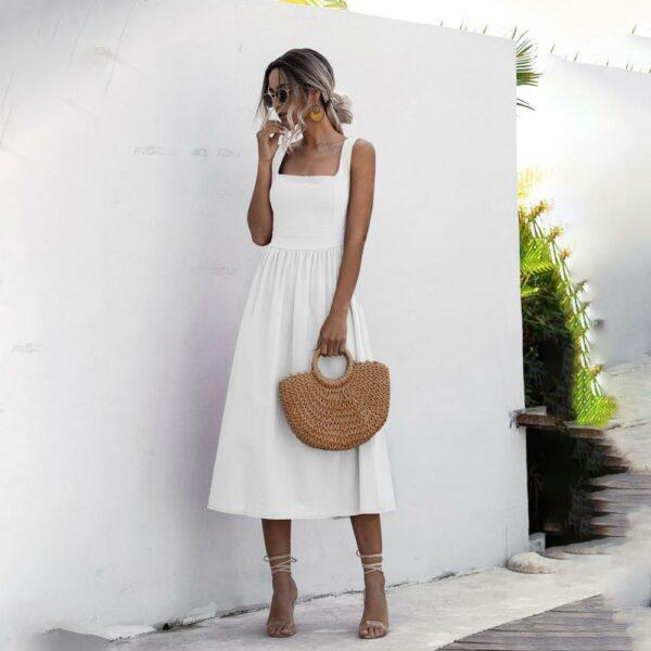 Robe Simple Blanche 3 | Soirée Blanche
