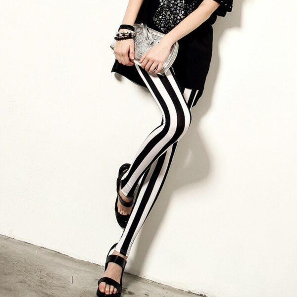 Pantalon Carreaux Noir Et Blanc Femme 6   Soirée Blanche