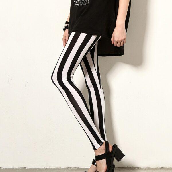 Pantalon Carreaux Noir Et Blanc Femme 3   Soirée Blanche