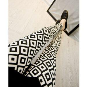 Pantalon Carreaux Noir Et Blanc Femme 44   Soirée Blanche
