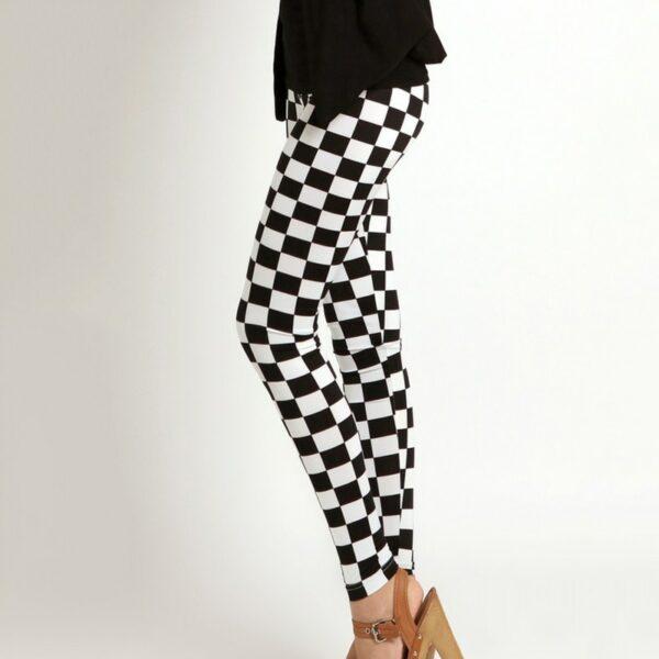 Pantalon Carreaux Noir Et Blanc Femme 1   Soirée Blanche