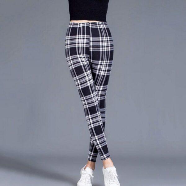 Pantalon Carreaux Noir Et Blanc Femme 17   Soirée Blanche