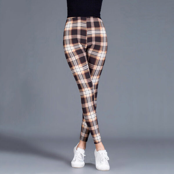 Pantalon Carreaux Noir Et Blanc Femme 13   Soirée Blanche