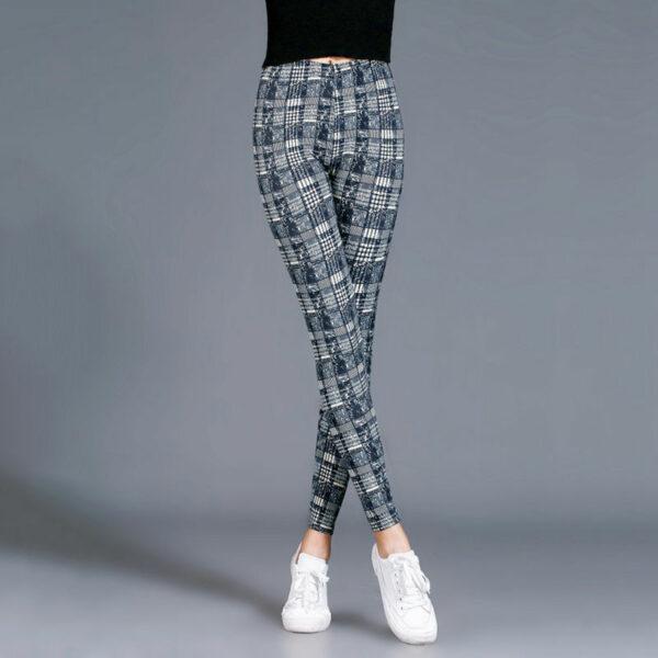 Pantalon Carreaux Noir Et Blanc Femme 10   Soirée Blanche