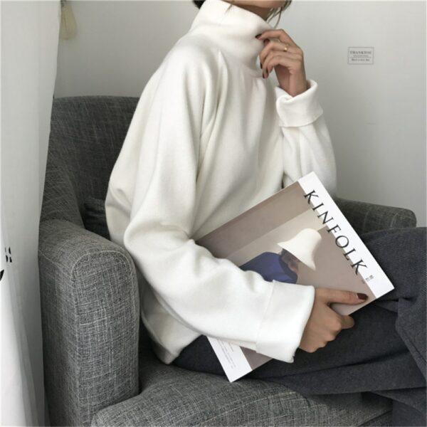 Pull Blanc Femme Coton 1 | Soirée Blanche
