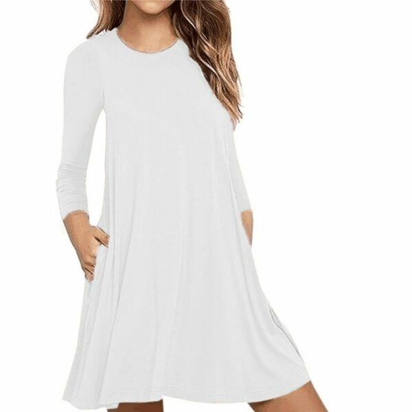 Robe Tunique Large Blanche 2 | Soirée Blanche