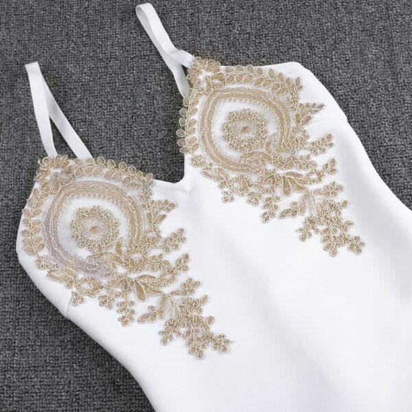 Robe Blanche Et Or 10 | Soirée Blanche
