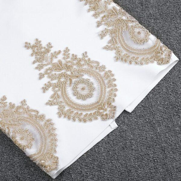 Robe Blanche Et Or 11 | Soirée Blanche