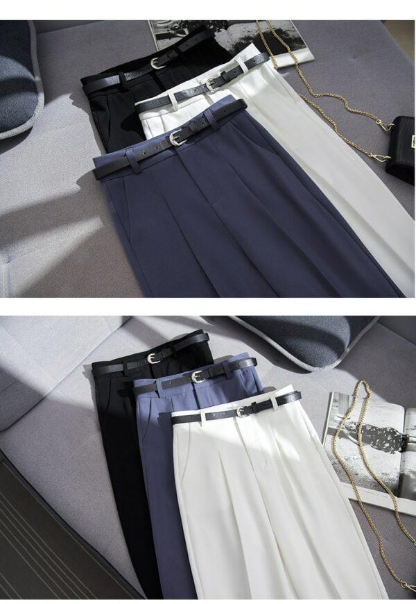 Pantalon Blanc Femme Taille Haute 8 | Soirée Blanche