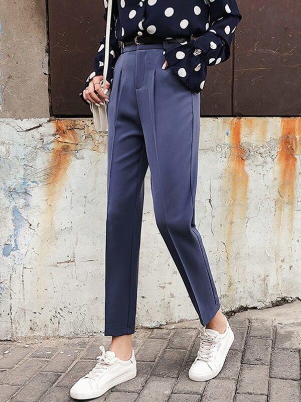 Pantalon Blanc Femme Taille Haute 4 | Soirée Blanche