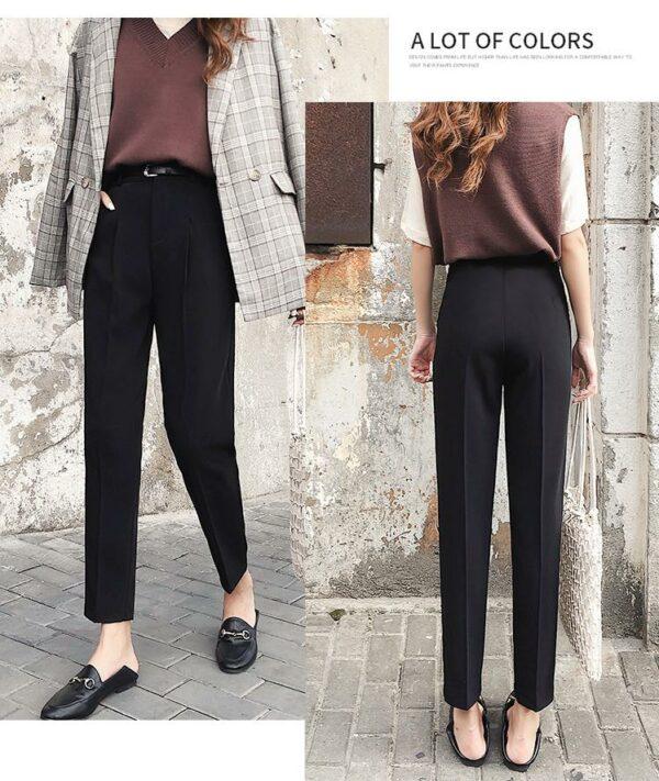 Pantalon Blanc Femme Taille Haute 6 | Soirée Blanche
