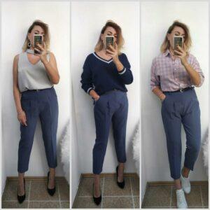 Pantalon Blanc Femme Taille Haute