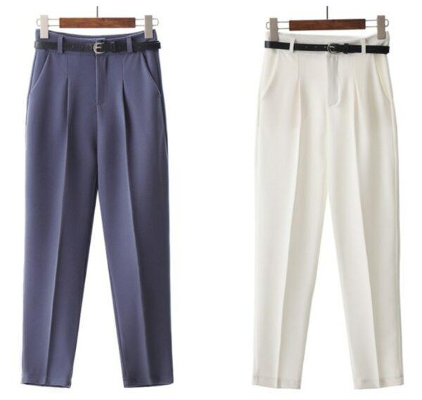 Pantalon Blanc Femme Taille Haute 3 | Soirée Blanche