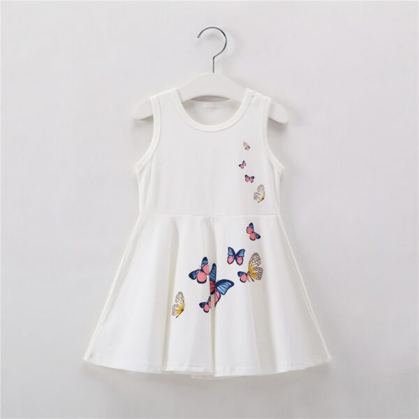 Robe Blanche Papillon Fille 2 | Soirée Blanche