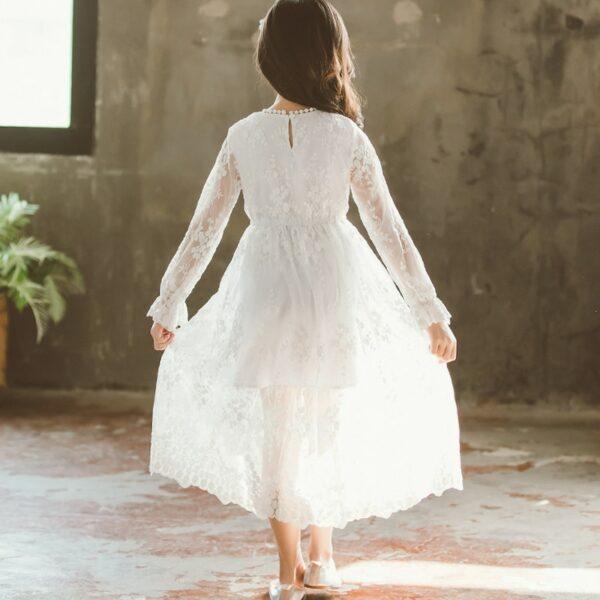 Robe Blanche Communion Fille 6   Soirée Blanche