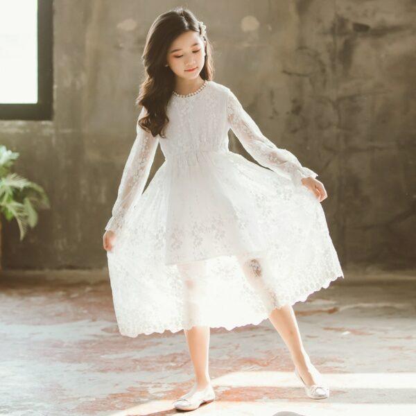 Robe Blanche Communion Fille 4   Soirée Blanche