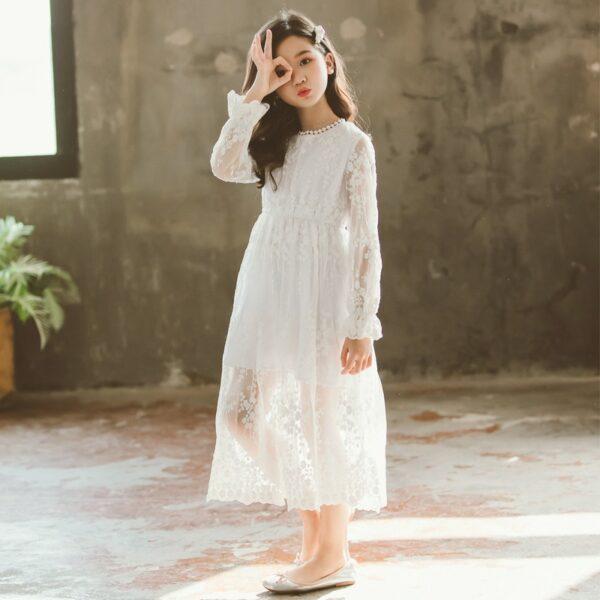 Robe Blanche Communion Fille 2   Soirée Blanche