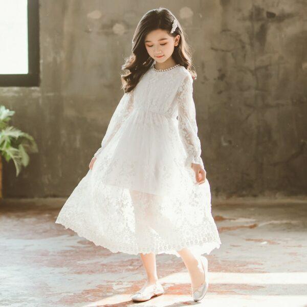 Robe Blanche Communion Fille 3   Soirée Blanche