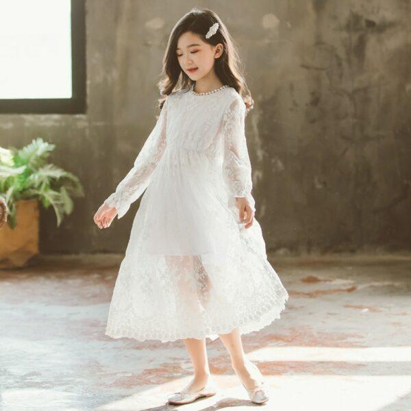 Robe Blanche Communion Fille 5   Soirée Blanche