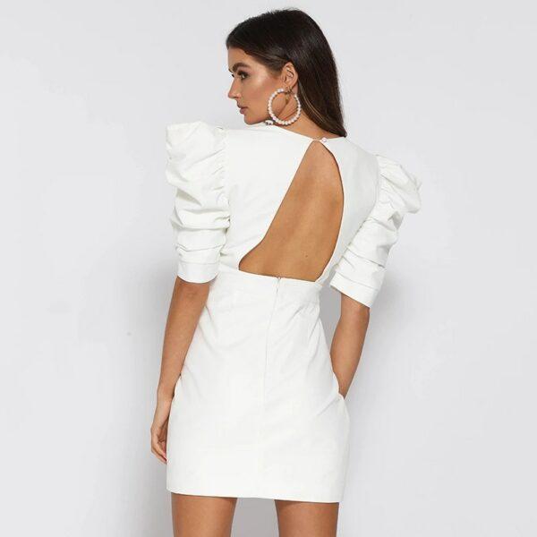 Robe Blanche Dos Nu 4   Soirée Blanche