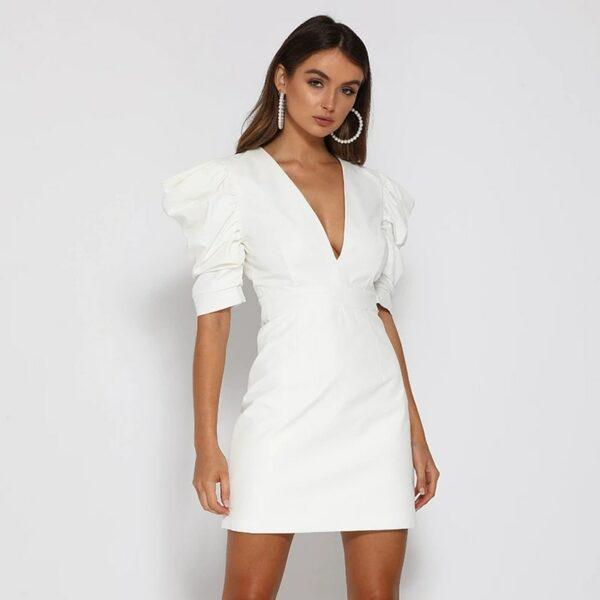 Robe Blanche Dos Nu 5   Soirée Blanche
