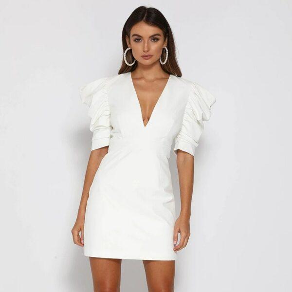 Robe Blanche Dos Nu 6   Soirée Blanche