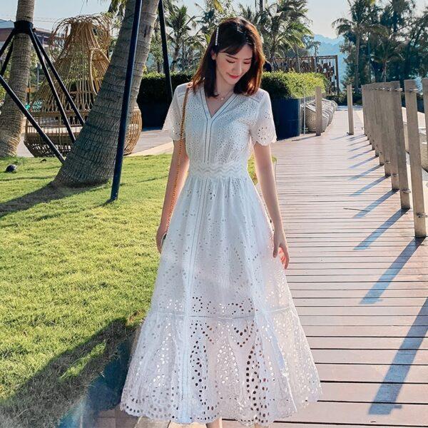 Robe Blanche Bohème Chic 2 | Soirée Blanche