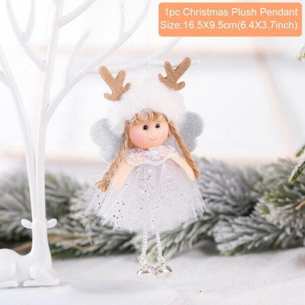 Ange Blanc Sapin De Noël 16 | Soirée Blanche