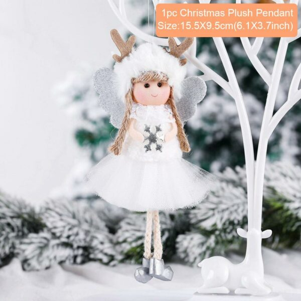 Ange Blanc Sapin De Noël 18 | Soirée Blanche