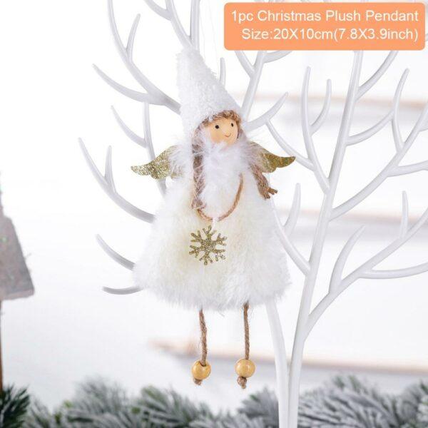 Ange Blanc Sapin De Noël 22 | Soirée Blanche