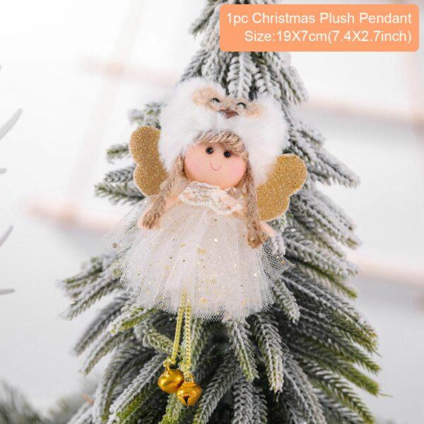 Ange Blanc Sapin De Noël 25 | Soirée Blanche