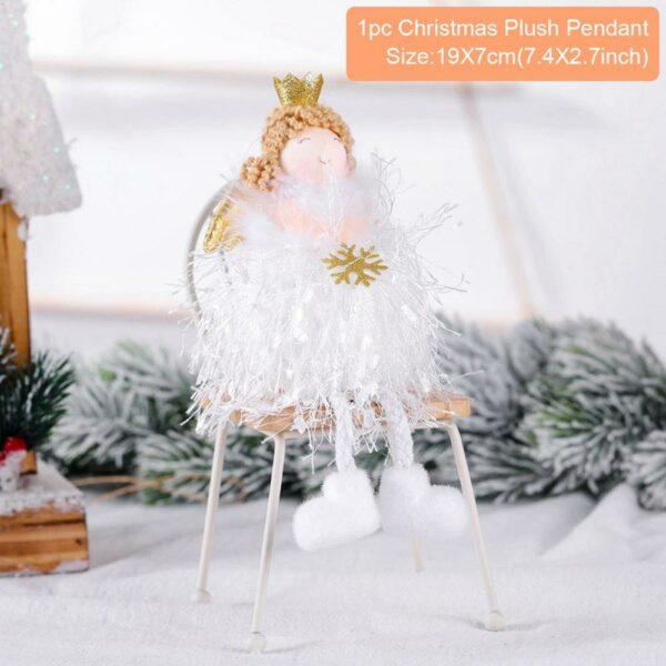 Ange Blanc Sapin De Noël 28 | Soirée Blanche