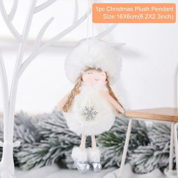 Ange Blanc Sapin De Noël 29 | Soirée Blanche