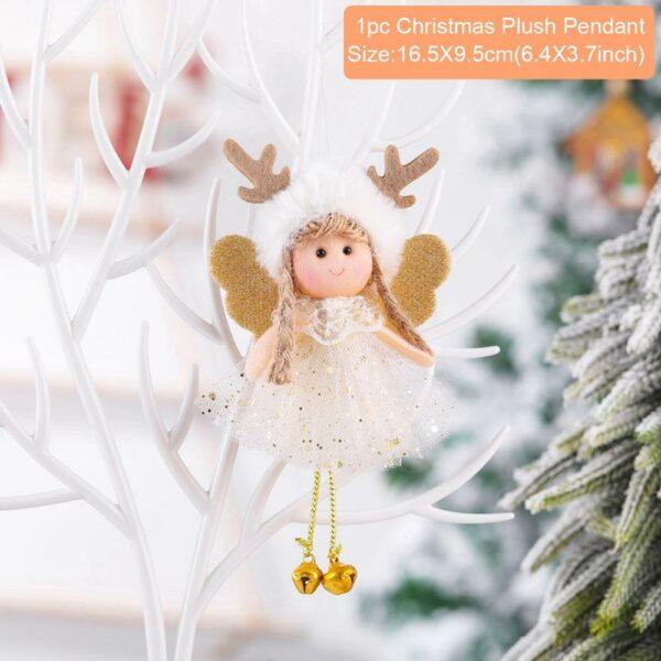 Ange Blanc Sapin De Noël 41 | Soirée Blanche