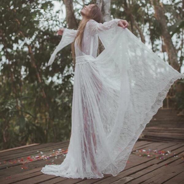 Robe Bohème Longue Blanche - Soirée Blanche