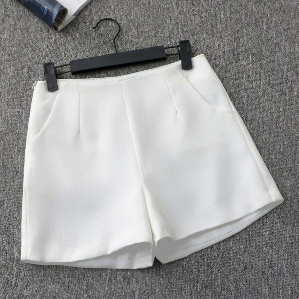 Short Blanc Fluide Femme 5   Soirée Blanche