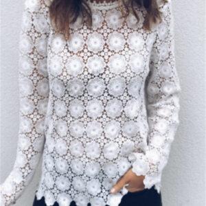 Tee Shirt Blanc Femme Manche Longue 9   Soirée Blanche