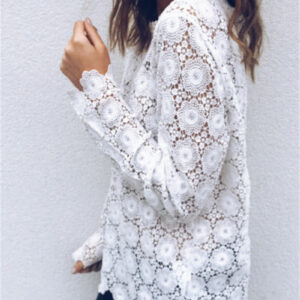 Tee Shirt Blanc Femme Manche Longue 8   Soirée Blanche