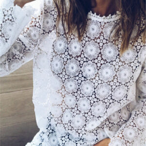 Tee Shirt Blanc Femme Manche Longue 10   Soirée Blanche