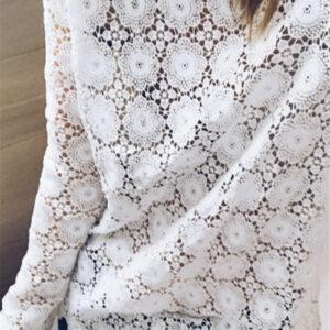 Tee Shirt Blanc Femme Manche Longue 11   Soirée Blanche
