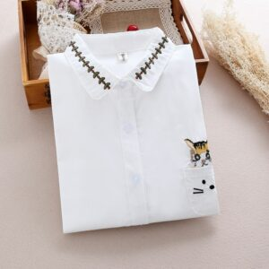 Chemise Blanche Brodée Femme 25 | Soirée Blanche