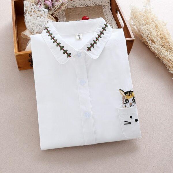Chemise Blanche Brodée Femme 6 | Soirée Blanche