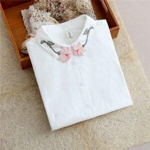 Chemise Blanche Brodée Femme 26 | Soirée Blanche