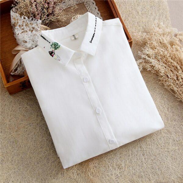 Chemise Blanche Brodée Femme 8 | Soirée Blanche