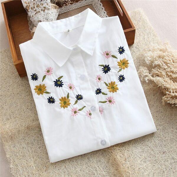Chemise Blanche Brodée Femme 5 | Soirée Blanche