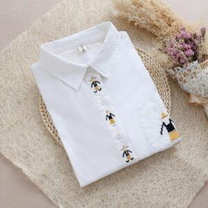 Chemise Blanche Brodée Femme 36 | Soirée Blanche