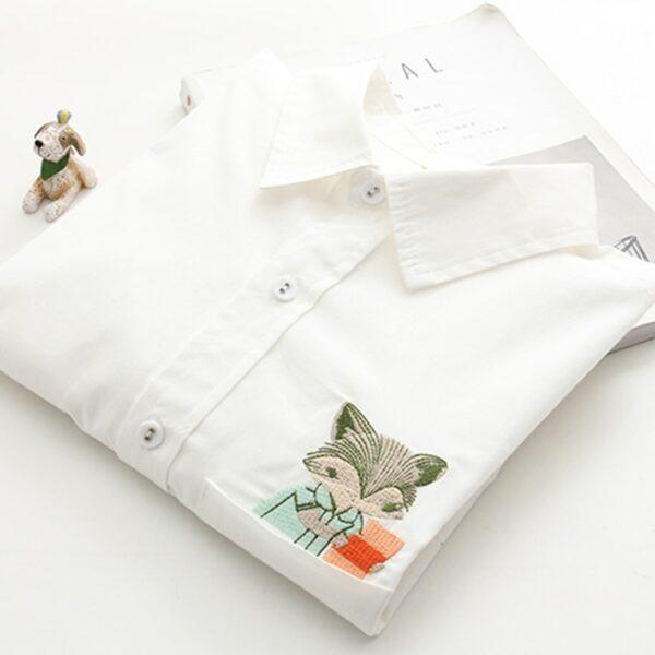 Chemise Blanche Brodée Femme 19 | Soirée Blanche