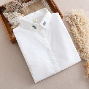 Chemise Blanche Brodée Femme 29 | Soirée Blanche